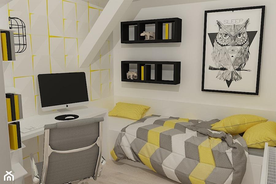 Aranżacje wnętrz - Pokój dziecka: Pokój młodzieżowy - Mały szary pokój dziecka dla chłopca dla dziewczynki dla ucznia dla nastolatka, styl nowoczesny - OpenARCH. Przeglądaj, dodawaj i zapisuj najlepsze zdjęcia, pomysły i inspiracje designerskie. W bazie mamy już prawie milion fotografii!