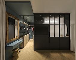 Soft loft - Garderoba, styl industrialny - zdjęcie od zietarska.pl - pracownia projektowa