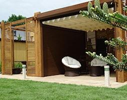 oświetlenie w ogrodzie - Średni ogród za domem z altaną, styl nowoczesny - zdjęcie od MAGIA OGRODU 24
