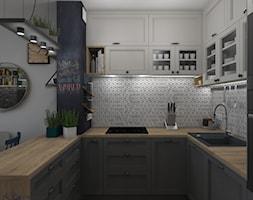 Widok na wewnętrzną stronę kuchni - zdjęcie od Projekt Środka - Homebook