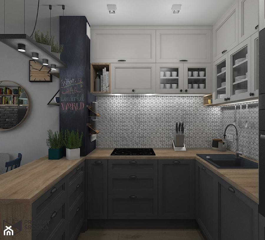 Widok na wewnętrzną stronę kuchni - zdjęcie od Projekt Środka