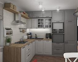 Widok całości kuchni. - zdjęcie od Projekt Środka