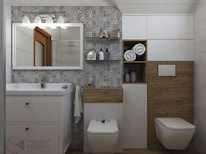 Rustykalna łazienka na poddaszu