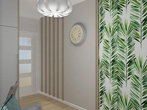 Wnętrza WodnaNuta - Małe beżowe zielone białe biuro kącik do pracy w pokoju, styl klasyczny - zdjęcie od Projekt Środka