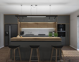 Widok na zabudowę kuchenną - zdjęcie od Projekt Środka