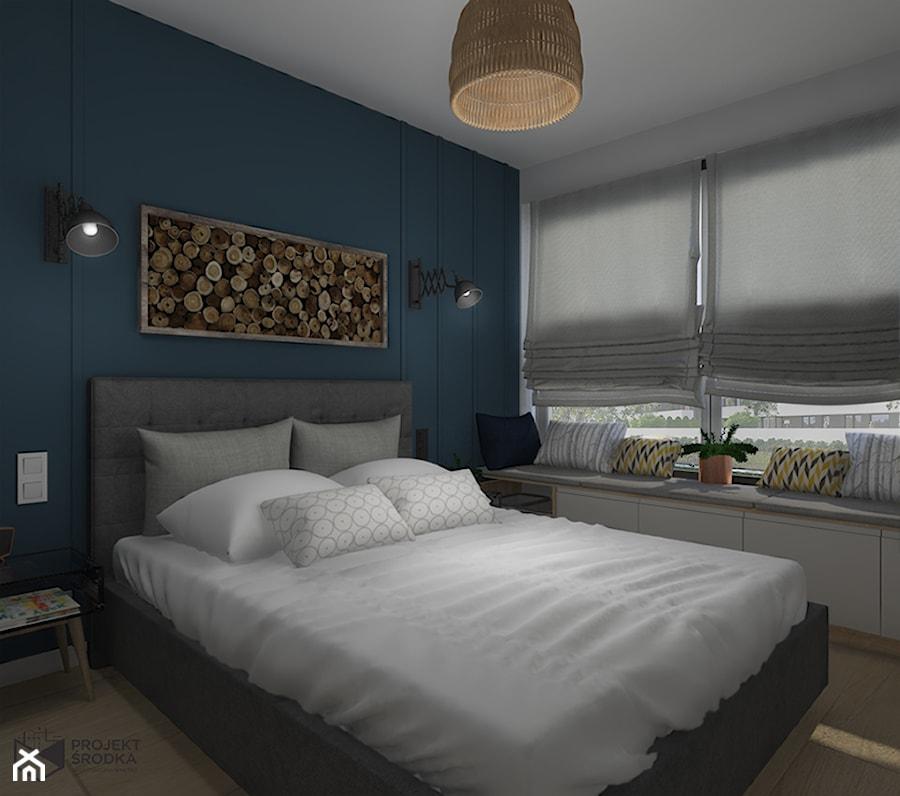 Sypialnia z siedziskiem pod oknem - zdjęcie od Projekt Środka