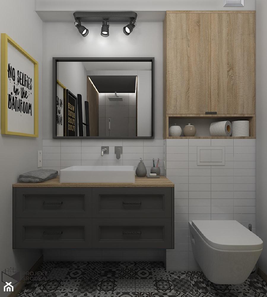 Łazienka z płytkami patchwork - zdjęcie od Projekt Środka