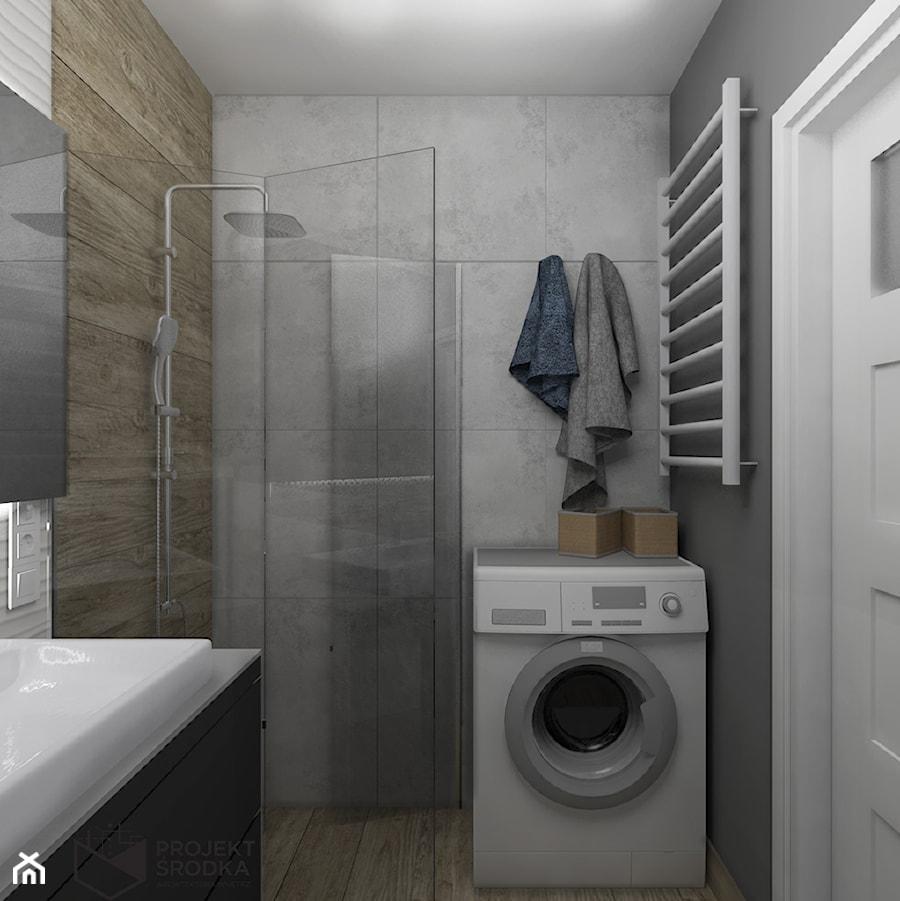 Widok na część prysznicową łazienki - zdjęcie od Projekt Środka
