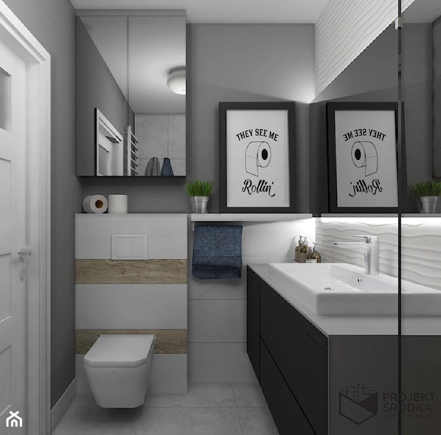 Widok na zabudowę stelaża wc - zdjęcie od Projekt Środka