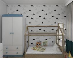 Widok na część sypialnianą pokoju - zdjęcie od Projekt Środka