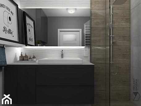 Aranżacje wnętrz - Łazienka: Ściana na wejście do łazienki - Projekt Środka. Przeglądaj, dodawaj i zapisuj najlepsze zdjęcia, pomysły i inspiracje designerskie. W bazie mamy już prawie milion fotografii!