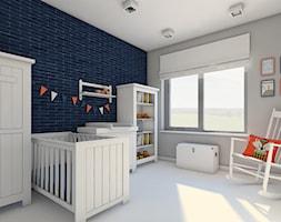 Dom jednorodzinny - okolice Lęborka - Średni szary czarny pokój dziecka dla chłopca dla dziewczynki dla niemowlaka, styl skandynawski - zdjęcie od Radkiewicz Architektura