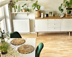 Wnętrze - Mały szary salon z jadalnią - zdjęcie od Healthylifestyle_domi_