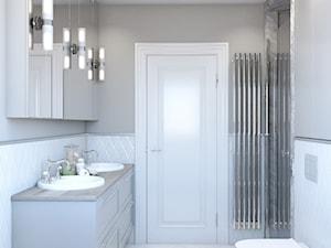 Klasyczna łazienka w bieli - zdjęcie od Auroom Concept