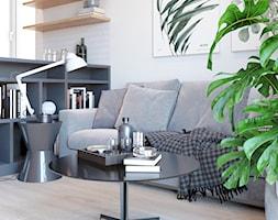 Salon z mini biblioteczka - zdjęcie od Auroom Concept - Homebook