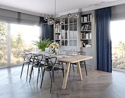 Nowoczesny+salon+z+klasyczna+witryn%C4%85+-+zdj%C4%99cie+od+Auroom+Concept