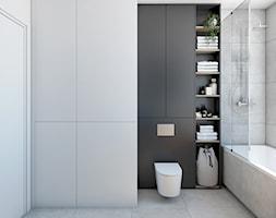 Industrialna łazienka z ukrytą pralnią - zdjęcie od Auroom Concept - Homebook