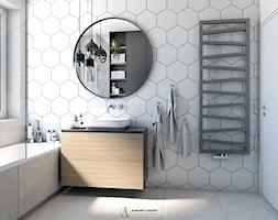 Industrialna łazienka w heksagony - zdjęcie od Auroom Concept - Homebook