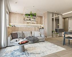 Przytulny salon aneksem kuchennym - zdjęcie od Auroom Concept - Homebook