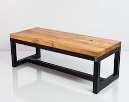 Ławka Stal Czarna Blat Dębowy Olejowany EMRA WOOD - zdjęcie od Emra Wood Design - Homebook