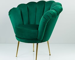 Fotel Muszelka Butelkowa Zieleń - zdjęcie od Emra Wood Design - Homebook