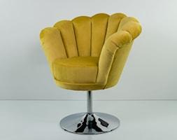 Fotel Muszelka Żółcień Cytrynowa EMRA WOOD - zdjęcie od Emra Wood Design - Homebook