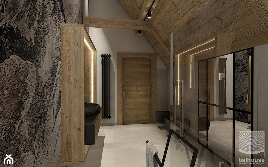 Łazienka w willi widokiem na Giewont - zdjęcie od balhouse - projektowanie wnętrz