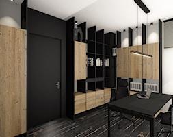 Gabinet/domowe biuro i holl w willi z widokiem na Giewont - zdjęcie od balhouse - projektowanie wnętrz