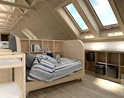 Mobilne łóżeczko na poddaszu - zdjęcie od balhouse - projektowanie wnętrz