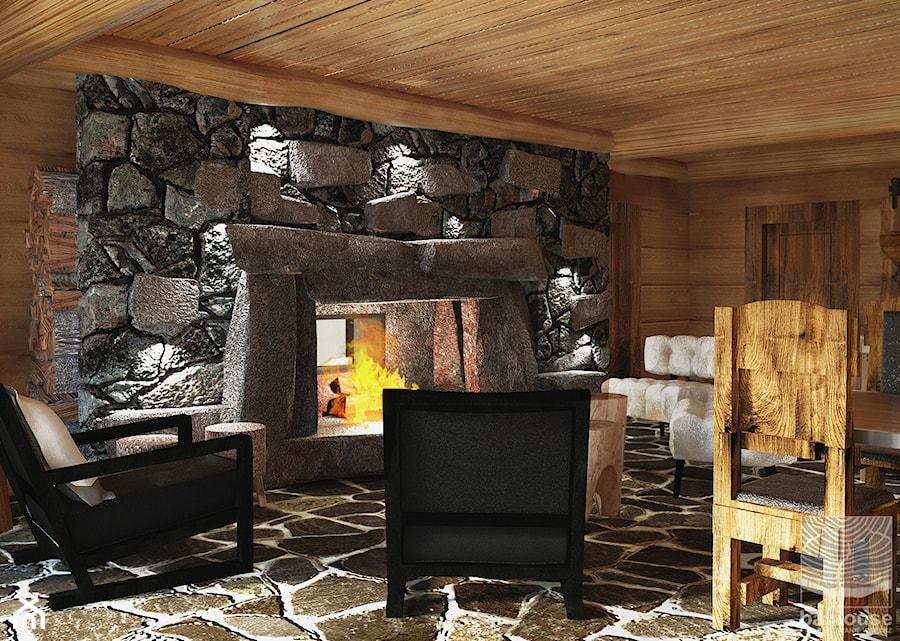 piwnica w domu z bali zaaranżowana jakos przestrzeń rozrywki i relaksu - zdjęcie od balhouse - projektowanie wnętrz