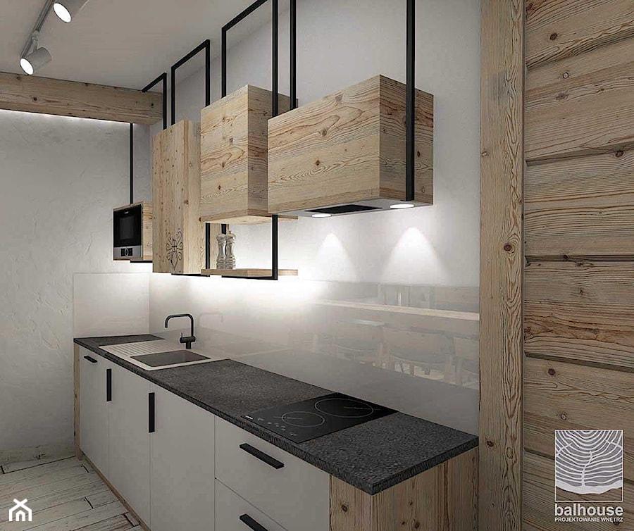 Projekt aranżacji wnętrz apartamentu w Zakopanem - zdjęcie od balhouse - projektowanie wnętrz