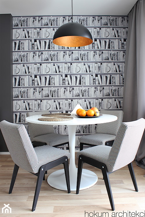 kącik jadalniany w salonie, styl vintage