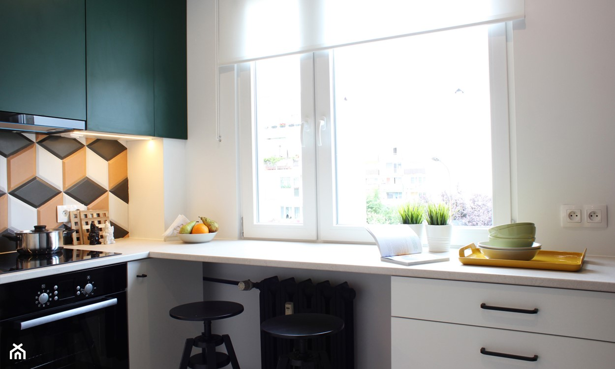Blokowa kuchnia w stylu retro