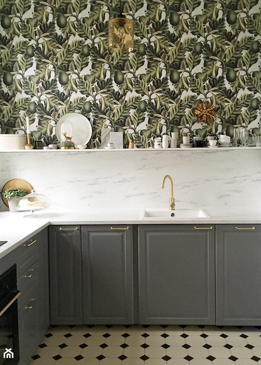 Konkurs O!Twórz Mieszkanie - Kolorowa kuchnia w kształcie litery l, styl eklektyczny - zdjęcie od Porta Drzwi