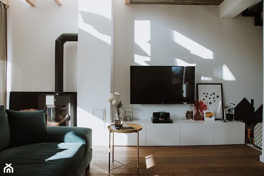 Konkurs O!Twórz Mieszkanie - Średni biały salon, styl eklektyczny - zdjęcie od Porta Drzwi