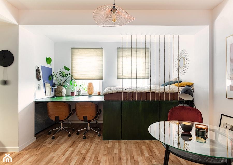 Konkurs O!Twórz Mieszkanie - Średnia biała sypialnia małżeńska, styl eklektyczny - zdjęcie od Porta Drzwi