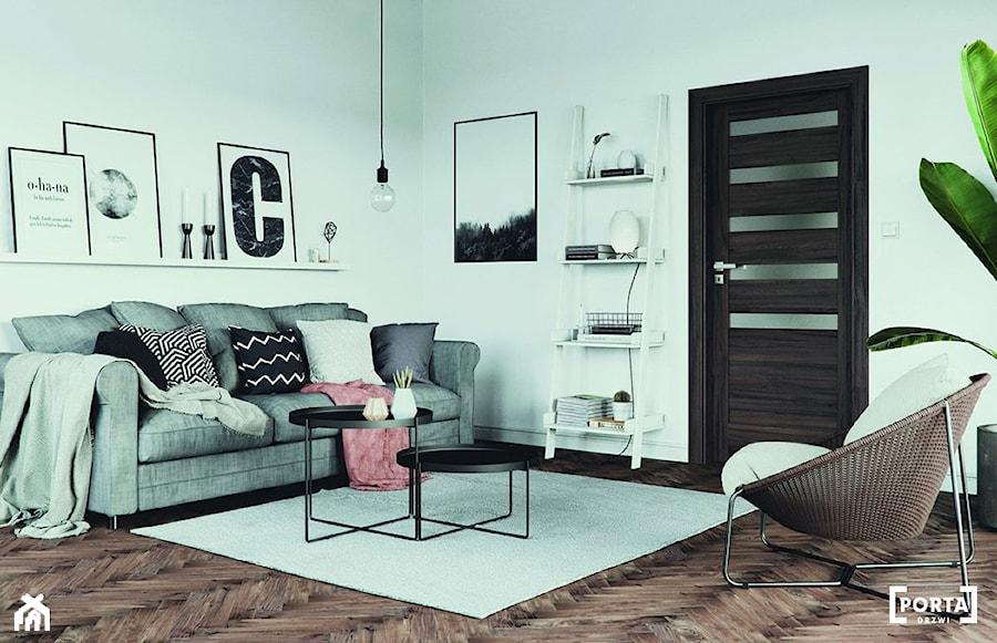 Inspiracje - Średni biały salon, styl eklektyczny - zdjęcie od Porta Drzwi