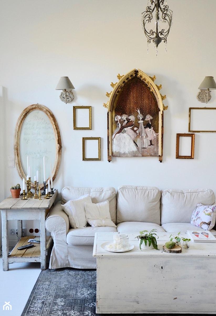 Konkurs O!Twórz Mieszkanie - Mały biały salon, styl eklektyczny - zdjęcie od Porta Drzwi