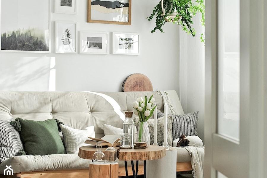 Konkurs O!Twórz Mieszkanie - Mały szary salon, styl skandynawski - zdjęcie od Porta Drzwi