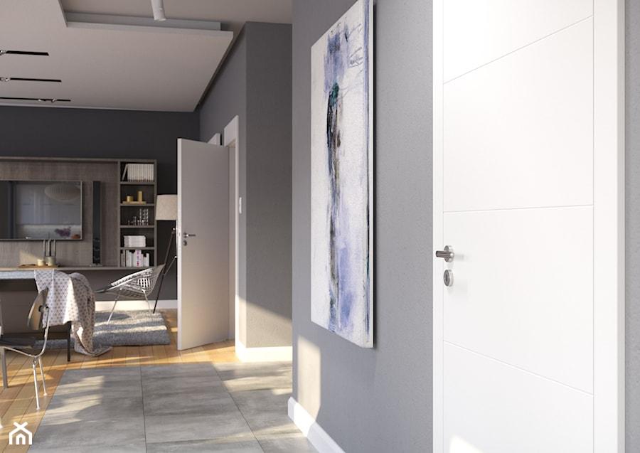 Inspiracje - Średni szary hol / przedpokój, styl nowoczesny - zdjęcie od Porta Drzwi