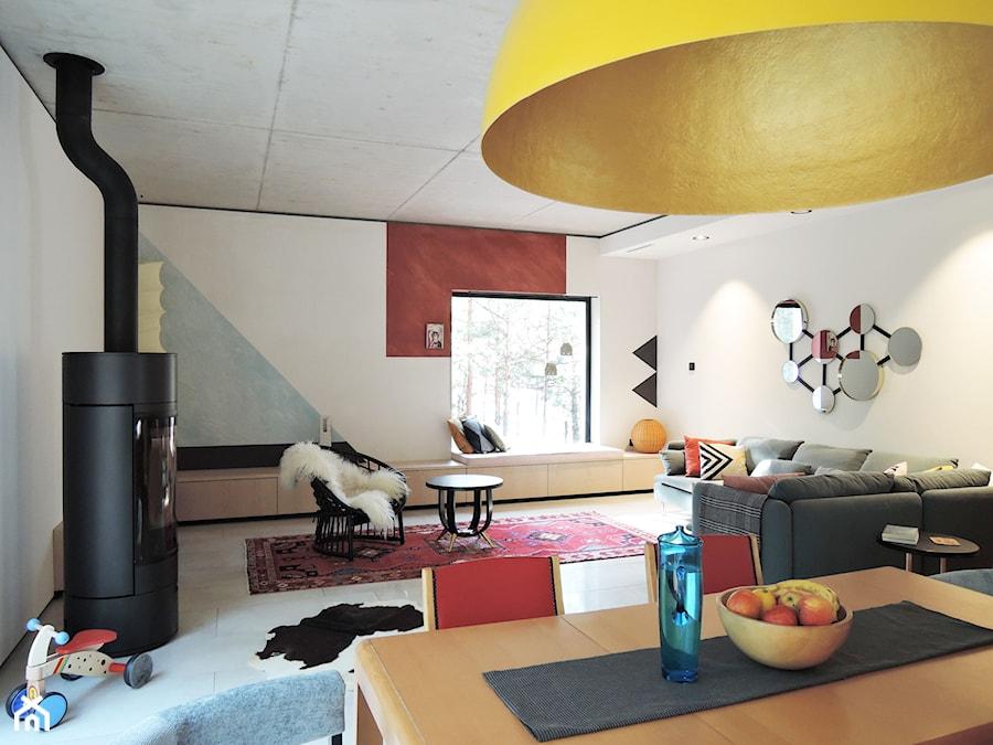 Konkurs O!Twórz Mieszkanie - Duży biały salon z jadalnią, styl eklektyczny - zdjęcie od Porta Drzwi