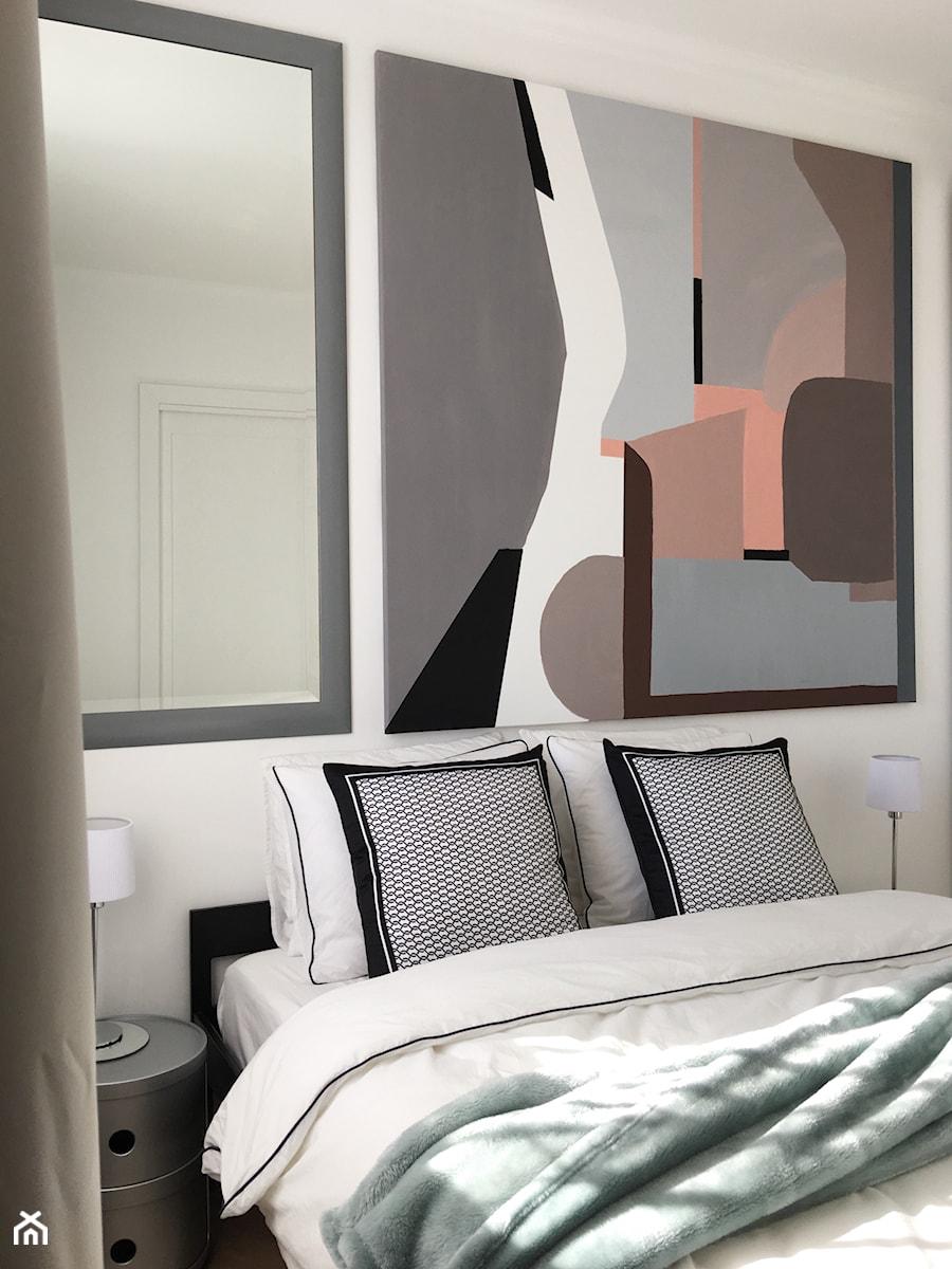 Konkurs O!Twórz Mieszkanie - Mała biała sypialnia małżeńska, styl nowoczesny - zdjęcie od Porta Drzwi