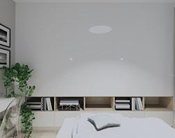 MIESZKANIE W RELAKSUJĄCYCH ODCIENIACH GŁĘBI OCEANU - Sypialnia, styl minimalistyczny - zdjęcie od KRET'''KA PRACOWNIA PROJEKTOWA - Homebook
