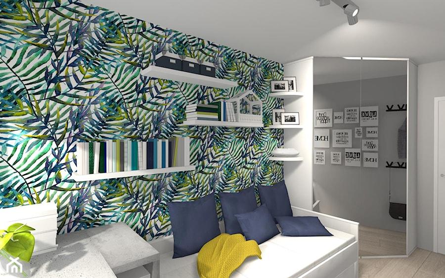 POKÓJ NASTOLATKI - Mały szary kolorowy pokój dziecka dla chłopca dla dziewczynki dla nastolatka, styl nowoczesny - zdjęcie od KRET'''KA PRACOWNIA PROJEKTOWA