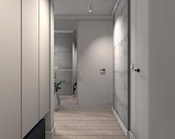 MIESZKANIE W JASNEJ PALECIE - Średni biały hol / przedpokój, styl nowoczesny - zdjęcie od KRET'''KA PRACOWNIA PROJEKTOWA
