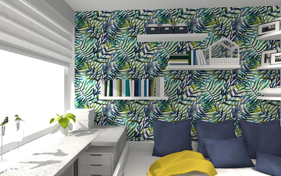POKÓJ NASTOLATKI - Mały kolorowy pokój dziecka dla chłopca dla dziewczynki dla nastolatka, styl nowoczesny - zdjęcie od KRET'''KA PRACOWNIA PROJEKTOWA