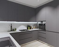 MIESZKANIE W RELAKSUJĄCYCH ODCIENIACH GŁĘBI OCEANU - Kuchnia, styl minimalistyczny - zdjęcie od KRET'''KA PRACOWNIA PROJEKTOWA - Homebook
