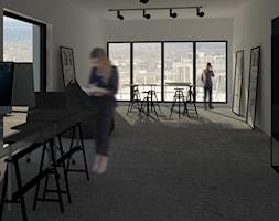 Pracownia architektoniczna - Duże szare biuro pracownia w pokoju, styl minimalistyczny - zdjęcie od Jakub Batycki - Architekt / projektant wnętrz