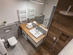 Gdańsk Motława - Średnia biała łazienka bez okna, styl nowoczesny - zdjęcie od juliarz