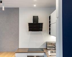 Gdańsk Motława - Mała zamknięta wąska biała szara kuchnia w kształcie litery u, styl nowoczesny - zdjęcie od juliarz - Homebook
